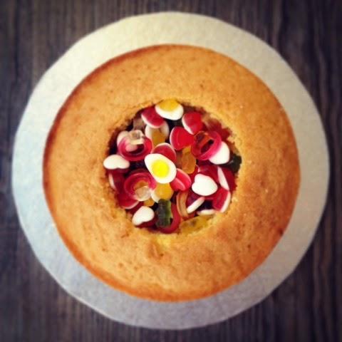 Pinata Cake, Victoria Sandwich with Haribo
