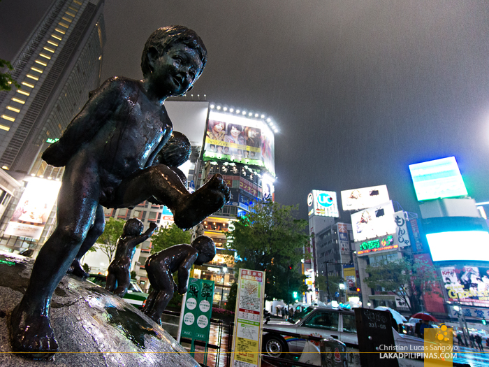 A Sculpture at Tokyo's Shibuya Crossing