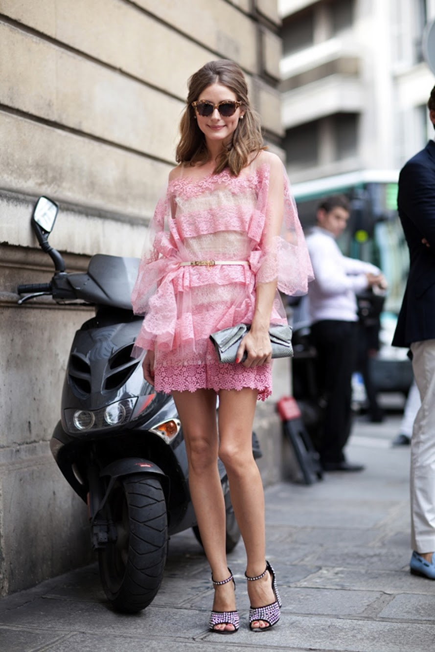 Olivia Palermo in Valentino & Wearing Lace