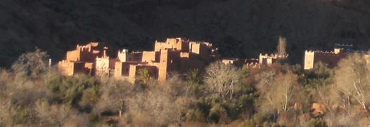 Bei Hdida/Hadida, Oued Mgoun, Rosental, Atlas-Gebirge, Marokko