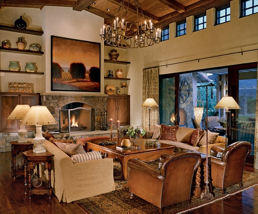 Jacques Saint Dizier Designed This Beautiful And Warm Living Room In Napa