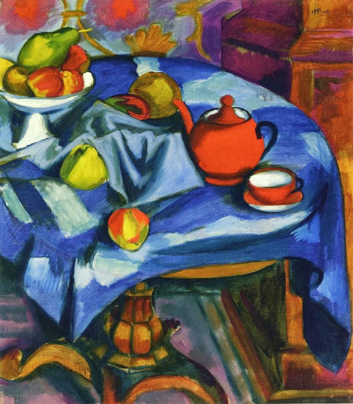 Max Pechstein - The Red Tea Service