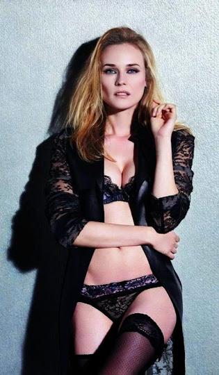Diane Kruger, en ropa interior