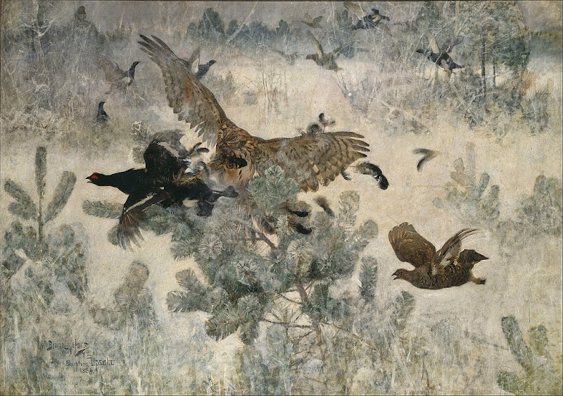 Bruno Liljefors - Hawk and Black-Game