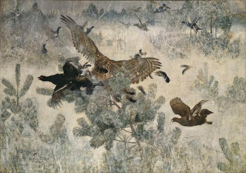 Bruno Liljefors - Hawk and Black-Game