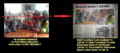 Berita Harian kantoi 'potong kepala' gambar Pesuruhjaya PAS untuk berita puji BN