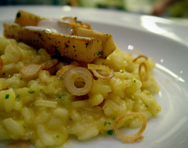 Pumpkin Risotto with Salsify
