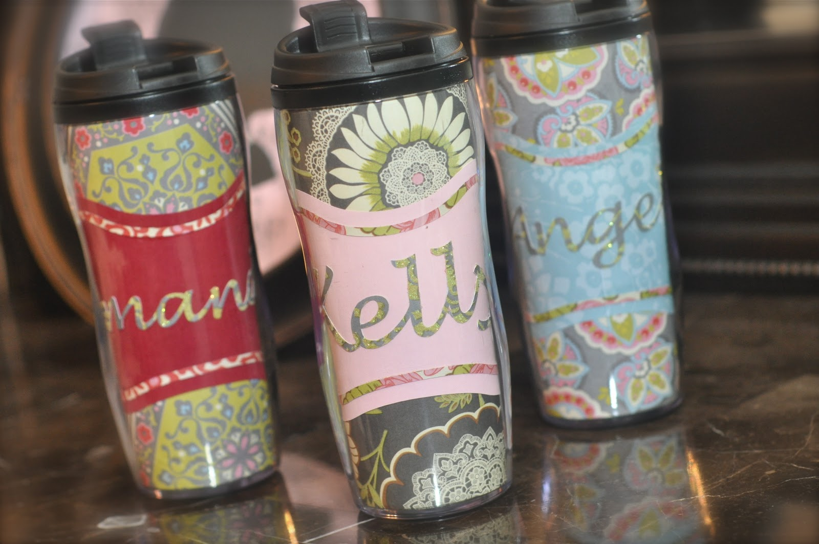Running With Glitter Personalized Tea Coffee Mug Tutorial