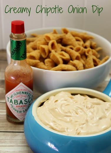 Creamy Chipotle Onion Dip Recipe #TabascoHellmanns