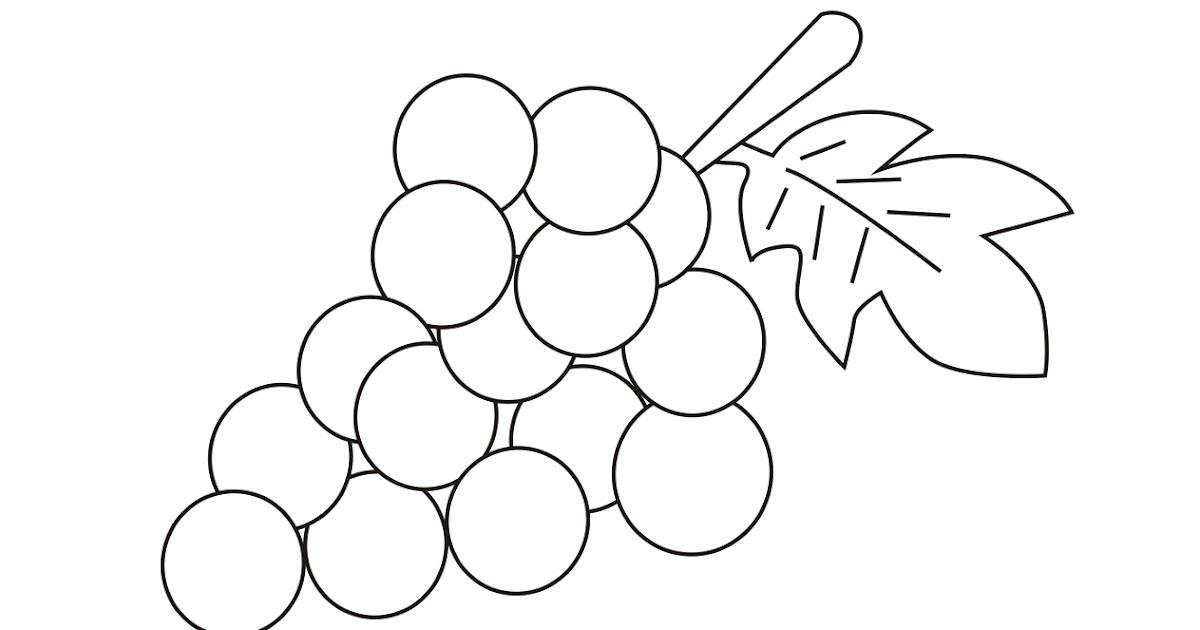 Dibujo En Linea Uva: Dibujos Para Colorear Y Trazar