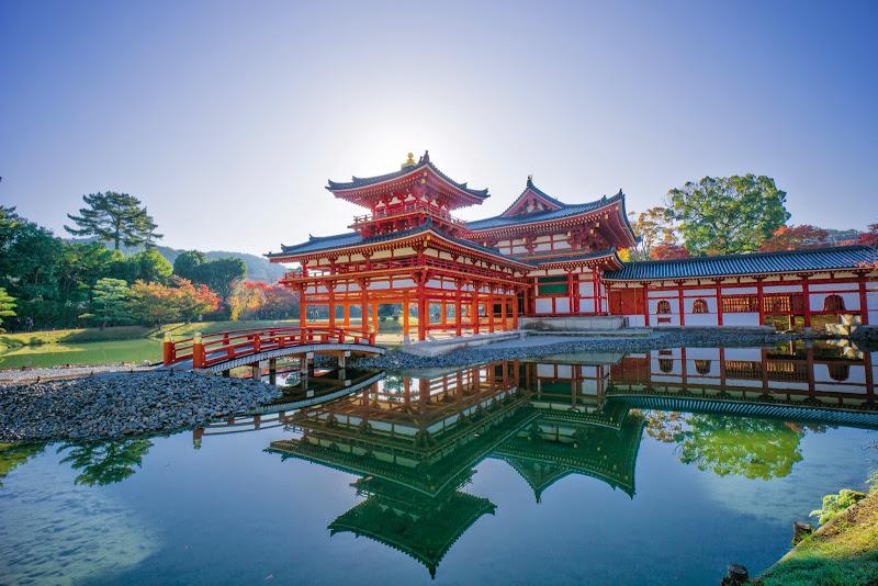 京都 紅葉 平等院鳳凰堂 写真2