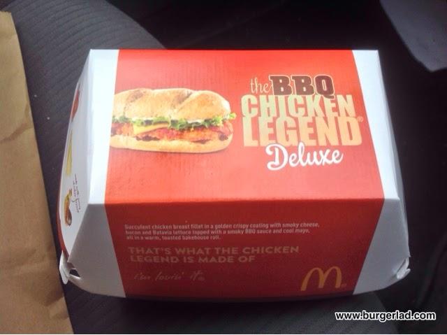 McDonald's BBQ Chicken Legend Deluxe