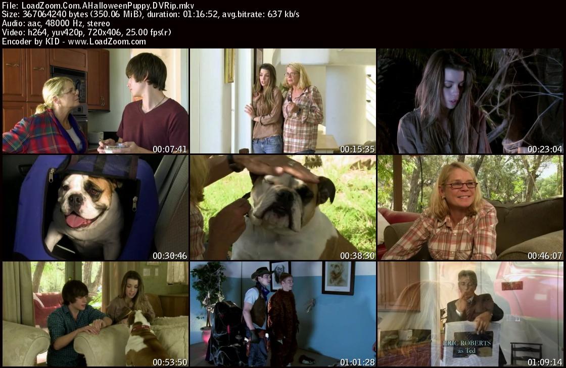 movie screenshot of A Halloween Puppy fdmovie.com