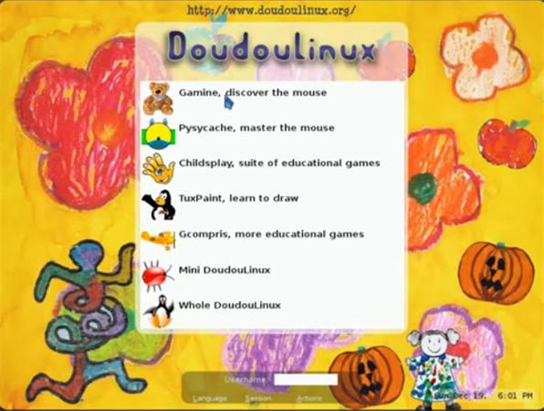 DoudouLinux, una distribución de Linux para niños