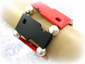 Guillemette l'Hoir Galalith Bracelet Art Deco Bauhaus Design