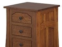 Oak Nightstands with Drawers