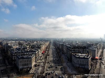 Vista do Terraço do Arc de Triomphe