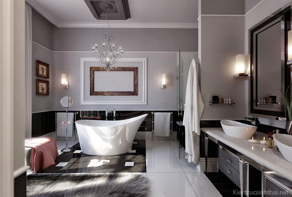 Thiết kế phòng tắm hiện đại , sang trọng