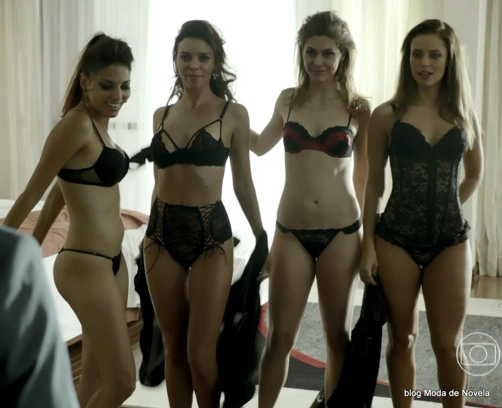 moda da série Felizes Para Sempre? - lingeries da festinha animada da Danny Bond