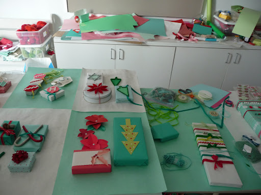 Our work station- sometimes things get messy when there are so many craft materials involved.