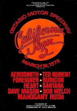 California Jam 2 Ontario Motor Speedway 18 March 1978