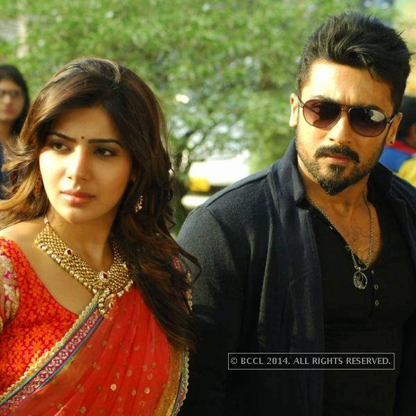 Samantha Ruth Prabhu and Suriya in a still from the movie, Anjaan.