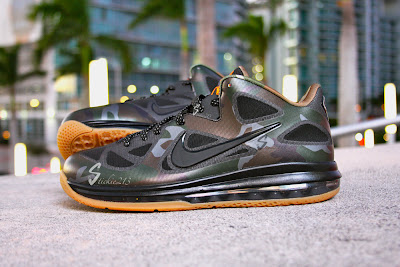 nike lebron 9 low pe camouflage 1 01 Nike LeBron 9 Low War Vet Camo PE   Pics & Video