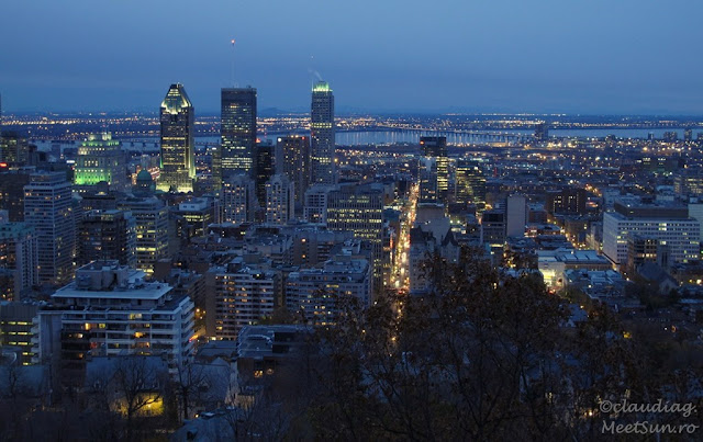 Montreal de pe Mount Royal.