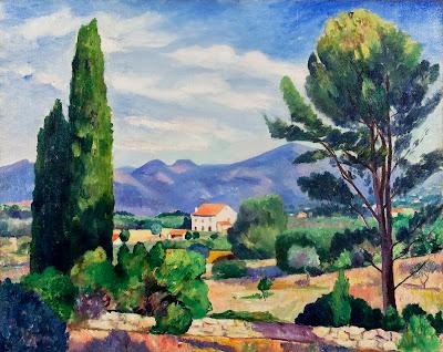 Henri-Charles Manguin - Les Deux Cypres, Sanary
