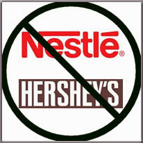 boycott Nestle and Hershey