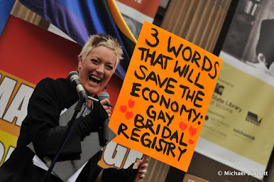 Tracy Bartram - fag-hagging it for marriage equality