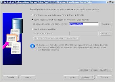 Crear base de datos en Oracle 10g 10.2.0.5.0 x64 y Windows Server 2008 x64