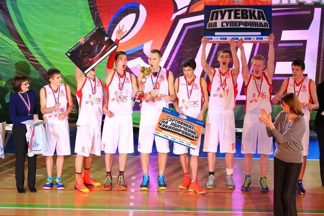Команда города Углич - Чемпион ЦФО КЭС-БАСКЕТ 2014