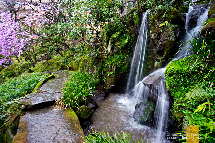 Mini Waterfalls at Hakone's Fujiya Hotel