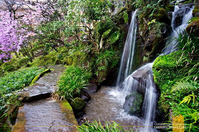 Mini Waterfalls at Hakone's Fujiya Hotel