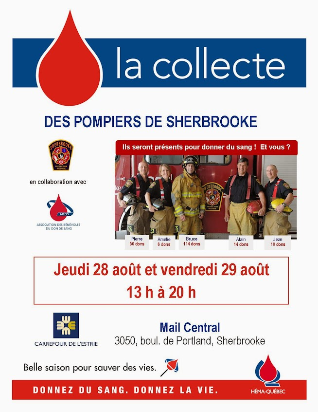2014-08 Collecte de sang des Pompiers de Shebrooke