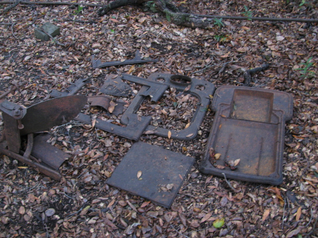 bits of metal that were part of a homestead once