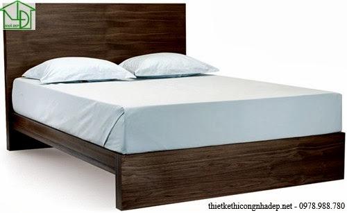Giường ngủ kiểu dáng cổ điển đơn giản