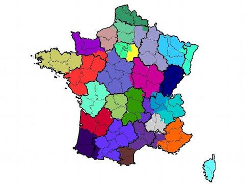 Mapa de llamadas de Francia