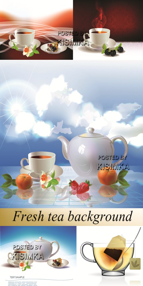 Stock: Fresh tea background