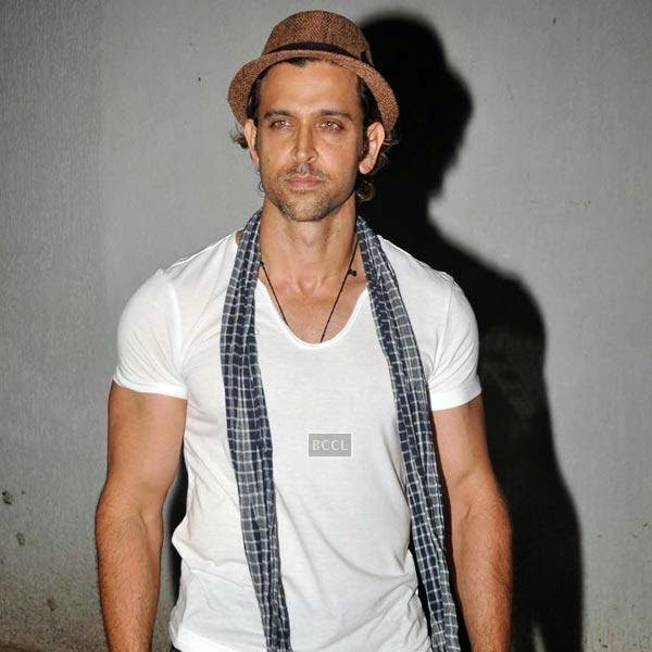 Hrithik Roshan attends the wrap-party of Bollywood movie Mary Kom, held at Sanjay Leela Bhansali's residence on July 26, 2014.(Pic: Viral Bhayani)