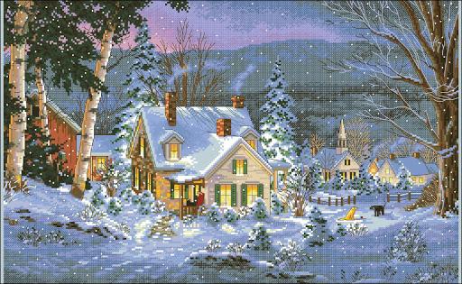 Winter's Hush cross stitch pattern