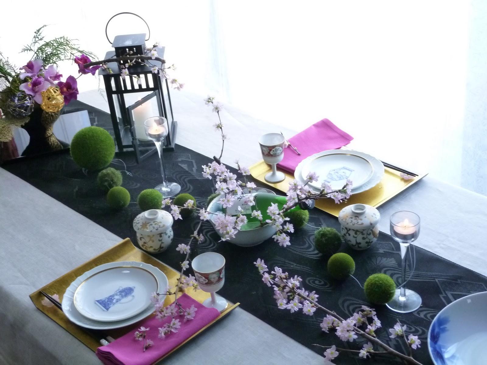 table de france  sakura table decoration