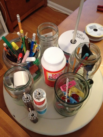 Two It Yourself Diy Craft Organization Caddy From A Lazy