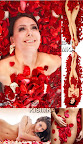 Stock Photo: Woman in rose petals 2