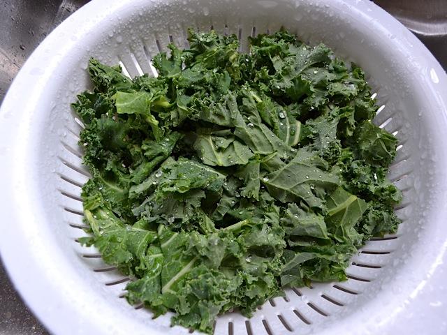 wash kale