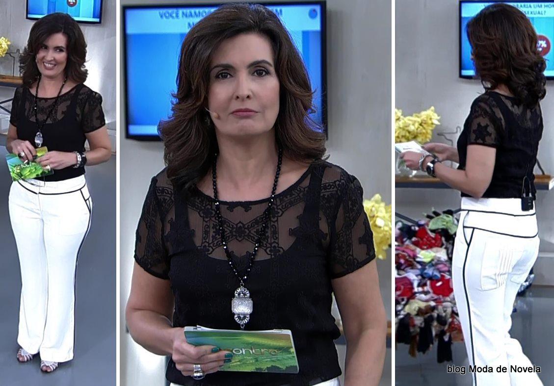 moda do programa Encontro - look da Fátima Bernardes dia 16 de junho