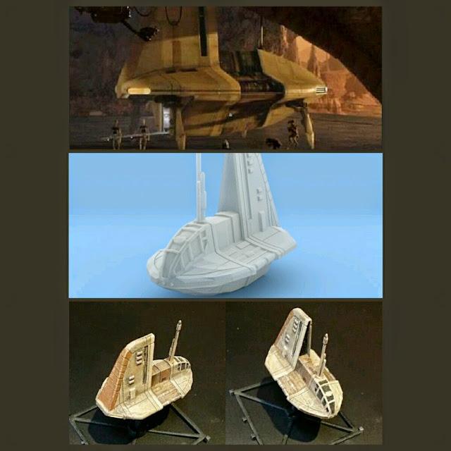 Neimoidian shuttle de Mel Miniatures
