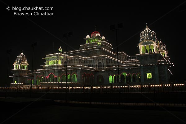 Perspective view of the Albert Hall Museum of Jaipur