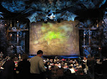The stage for Wicked before the show started. I've never seen such an intricate and decorated stage like this.